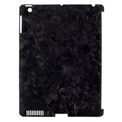 BLACK MARBLE Apple iPad 3/4 Hardshell Case (Compatible with Smart Cover)