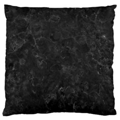 BLACK MARBLE Large Cushion Cases (One Side)