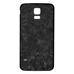 BLACK MARBLE Samsung Galaxy S5 Back Case (White)