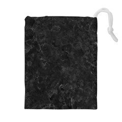 Black Marble Drawstring Pouches (extra Large)