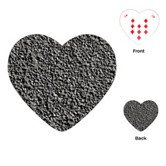 BLACK GRAVEL Playing Cards (Heart)