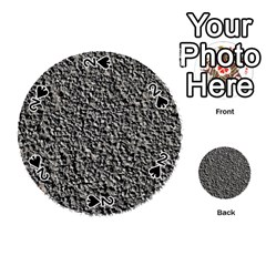 Black Gravel Playing Cards 54 (round)