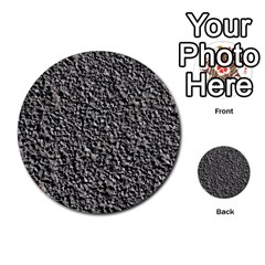 Black Gravel Multi Purpose Cards (round)