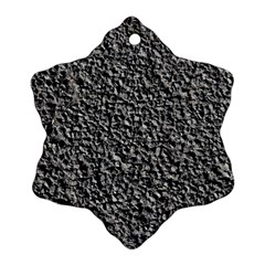 Black Gravel Ornament (snowflake)