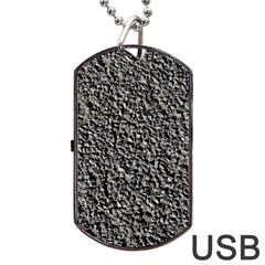 BLACK GRAVEL Dog Tag USB Flash (Two Sides)