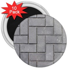 ALTERNATING GREY BRICK 3  Magnets (10 pack)