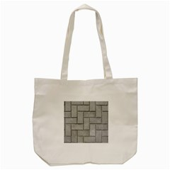 Alternating Grey Brick Tote Bag (cream)