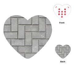 Alternating Grey Brick Playing Cards (heart)