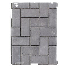 ALTERNATING GREY BRICK Apple iPad 3/4 Hardshell Case (Compatible with Smart Cover)