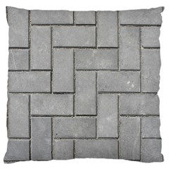 ALTERNATING GREY BRICK Large Flano Cushion Cases (Two Sides)