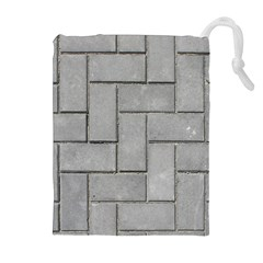 ALTERNATING GREY BRICK Drawstring Pouches (Extra Large)