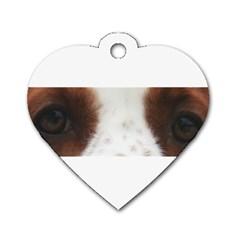 Welsh Springer Spaniel Eyes Dog Tag Heart (Two Sides)
