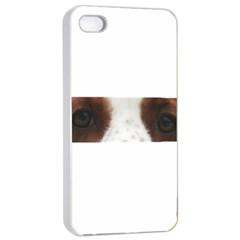 Welsh Springer Spaniel Eyes Apple iPhone 4/4s Seamless Case (White)