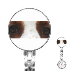 Welsh Springer Spaniel Eyes Stainless Steel Nurses Watches