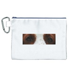 Welsh Springer Spaniel Eyes Canvas Cosmetic Bag (XL)