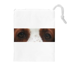 Welsh Springer Spaniel Eyes Drawstring Pouches (Extra Large)