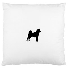 Shiba Inu Silhouette Large Flano Cushion Cases (One Side)