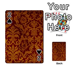 Royal Red And Gold Playing Cards 54 Designs