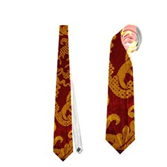 ROYAL RED AND GOLD Neckties (One Side)