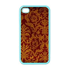 ROYAL RED AND GOLD Apple iPhone 4 Case (Color)