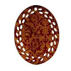 ROYAL RED AND GOLD Ornament (Oval Filigree)