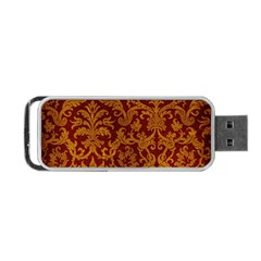 ROYAL RED AND GOLD Portable USB Flash (One Side)