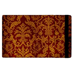 ROYAL RED AND GOLD Apple iPad 3/4 Flip Case