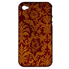 ROYAL RED AND GOLD Apple iPhone 4/4S Hardshell Case (PC+Silicone)