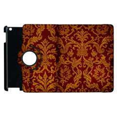 ROYAL RED AND GOLD Apple iPad 2 Flip 360 Case