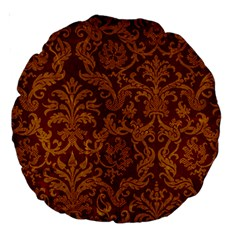 ROYAL RED AND GOLD Large 18  Premium Round Cushions