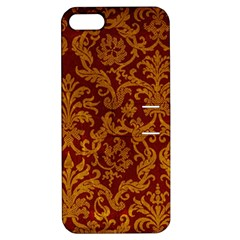 ROYAL RED AND GOLD Apple iPhone 5 Hardshell Case with Stand