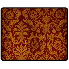 ROYAL RED AND GOLD Double Sided Fleece Blanket (Medium)