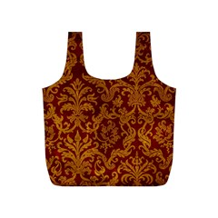 ROYAL RED AND GOLD Full Print Recycle Bags (S)