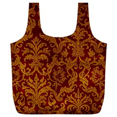 ROYAL RED AND GOLD Full Print Recycle Bags (L)