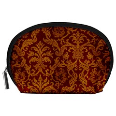 ROYAL RED AND GOLD Accessory Pouches (Large)