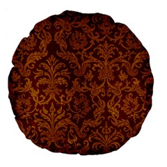 ROYAL RED AND GOLD Large 18  Premium Flano Round Cushions