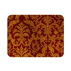 ROYAL RED AND GOLD Double Sided Flano Blanket (Mini)