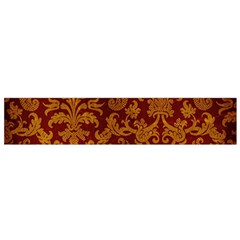 ROYAL RED AND GOLD Flano Scarf (Small)