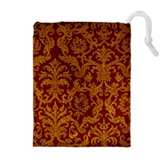 ROYAL RED AND GOLD Drawstring Pouches (Extra Large)