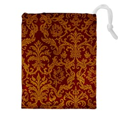 Royal Red And Gold Drawstring Pouches (xxl)