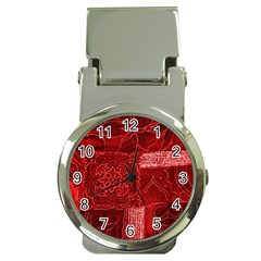 RED PATCHWORK Money Clip Watches
