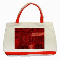 RED PATCHWORK Classic Tote Bag (Red)