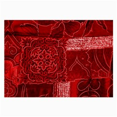 RED PATCHWORK Large Glasses Cloth
