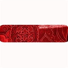 Red Patchwork Large Bar Mats