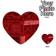Red Patchwork Multi Purpose Cards (heart)