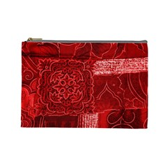 RED PATCHWORK Cosmetic Bag (Large)