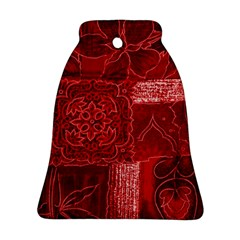 Red Patchwork Bell Ornament (2 Sides)