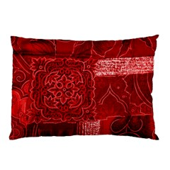 RED PATCHWORK Pillow Cases (Two Sides)
