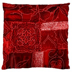 RED PATCHWORK Large Cushion Cases (Two Sides)