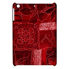 RED PATCHWORK Apple iPad Mini Hardshell Case